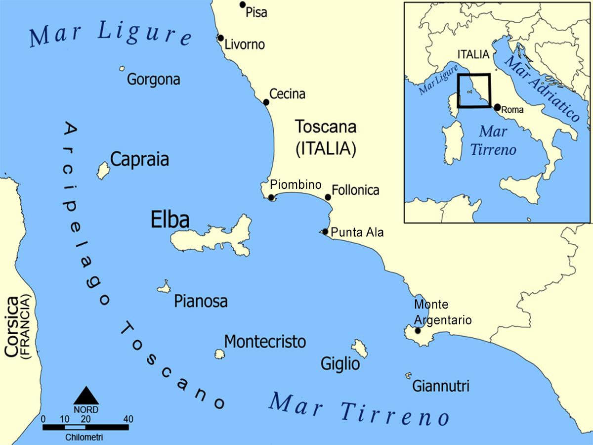Arcipelago Toscano - 0 cartina