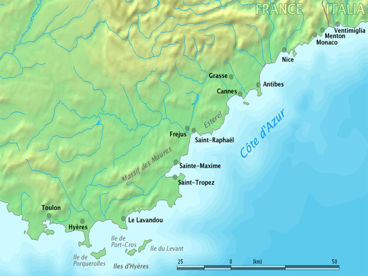 costa azzurra - cartina 1200x900